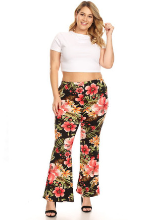 2a2bc0e9b354c4 Plus Size High Waisted Flare Pants & Bell Bottoms