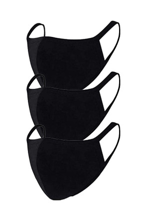 2 Layer Reusable Mask-Black (3 Pack)