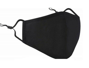 Cotton Face Mask with Adjustable Earloops and Filter Pocket