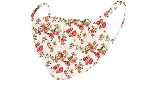 2 Layer Reusable Mask-Ivory Orange Floral
