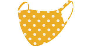 2 Layer Reusable Mask-Yellow Polka Dot