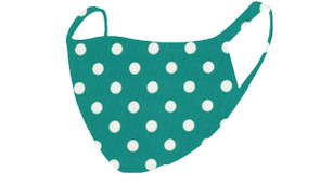 2 Layer Reusable Mask-Jade Polka Dot