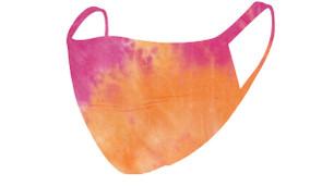 2 Layer Reusable Mask-Orange Fuchsia Summer Tie Dye