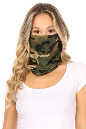 Fashion Neck Gaiter and Face Covering - Camouflage