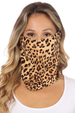 Fashion Neck Gaiter and Face Covering -Cheetah