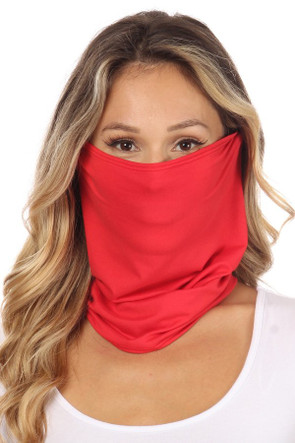 Fashion Neck Gaiter and Face Covering -Red Solid