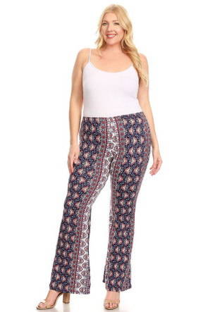 Plus Size Boho Bell Bottom Pant