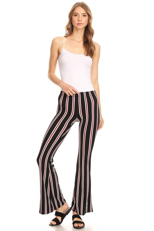 new products coupon codes amazing selection Striped Flare Pants | Cheap Flare Out Pants | VIBE Apparel Co