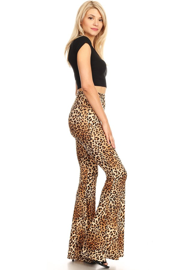 a1561c5bf2 TAUPE 8183. TAUPE 8183. TAUPE 8183. Women s Animal Print Wide Leg Fit and  Flare Pant