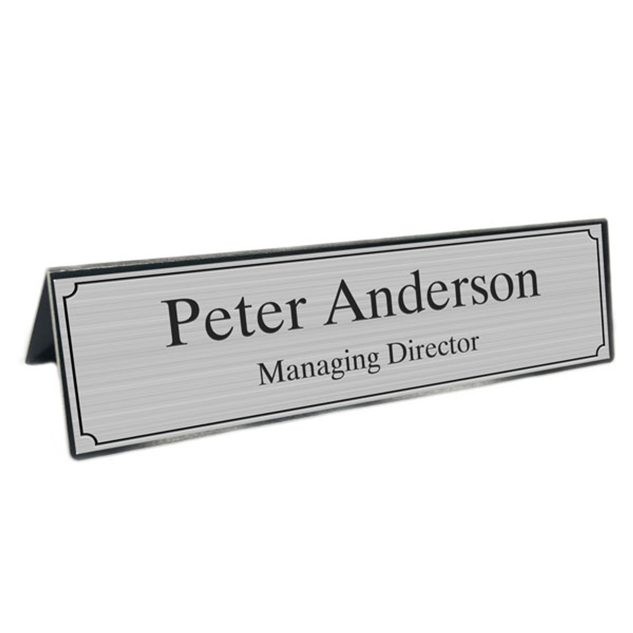 A-Frame Style Desk Name Plate