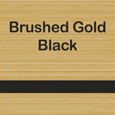 Brushed Gold - Black