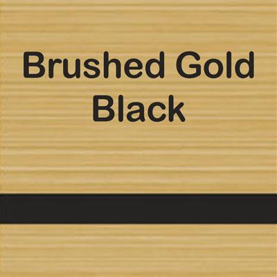 Brushed Gold - Black
