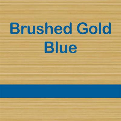 Brushed Gold - Blue