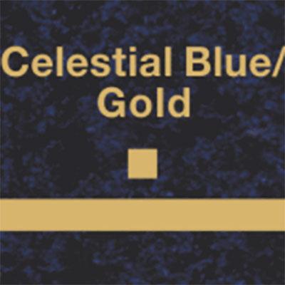 Celestial Blue - Gold