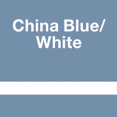 China Blue - White