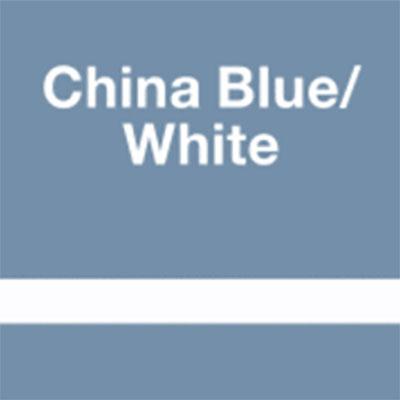 China Blue - White