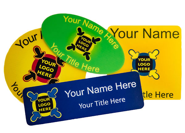 Colour printed name badges