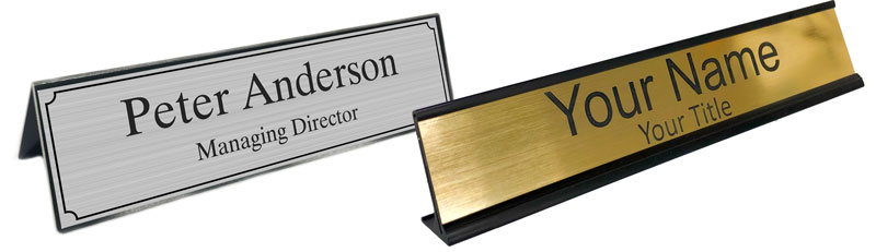 Custom Desk Name Plates