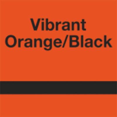 Vibrant Orange - Black