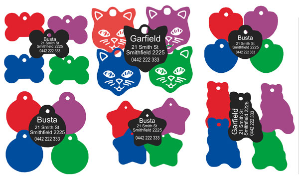 Pet tags for dogs and cats