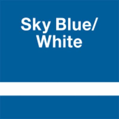 Sky Blue - White