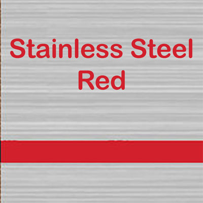 Stainless Steel - Red