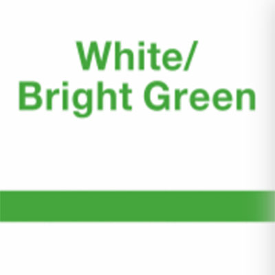 White - Bright Green