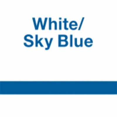 White - Sky Blue