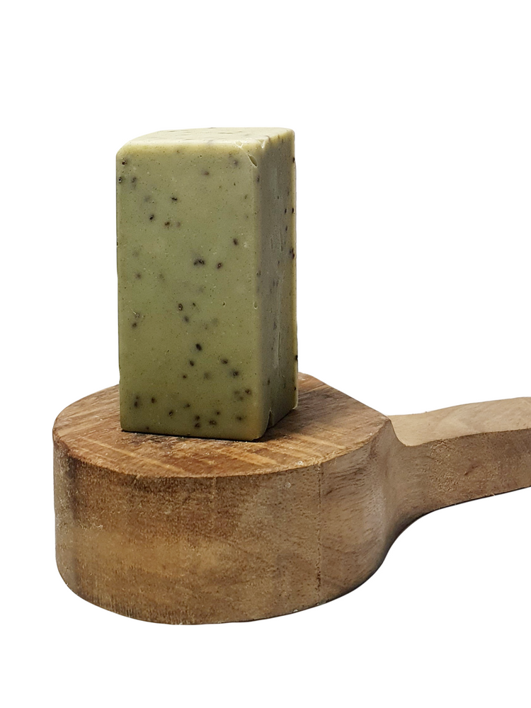 Juniper + Ginger With Chia Seeds Aromatherapy Exfoliating Olive Oil Soap Bar
