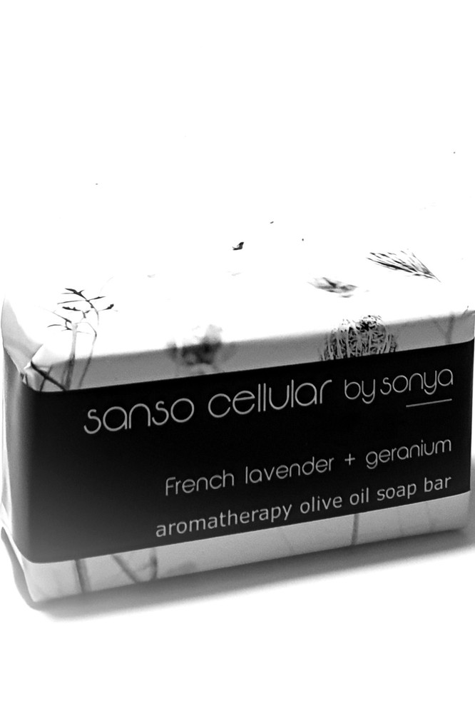 French Lavender + Geranium Aromatherapy Olive Oil Soap Bar