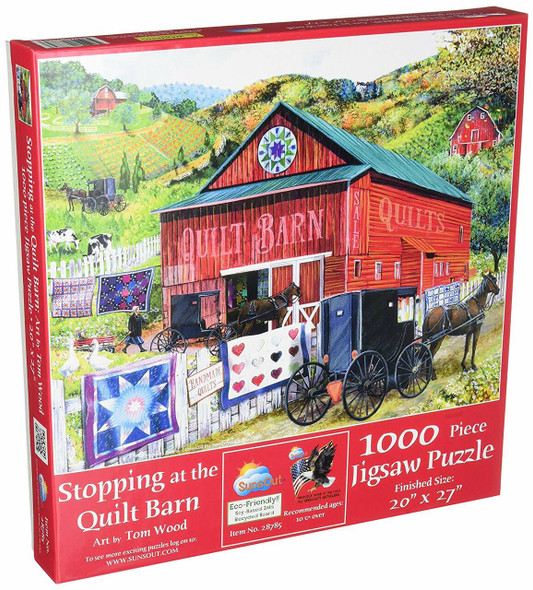 SunsOut Stopping at The Quilt Barn 1000pc