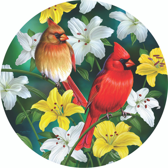Cardinals in the Round 500 pc Jigsaw Puzzle