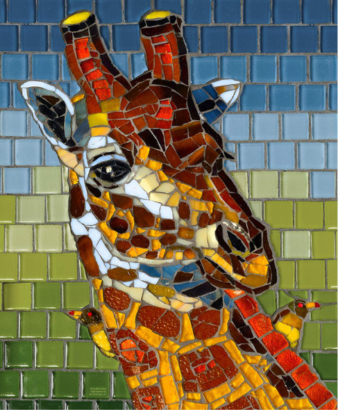 Stained Glass:Giraffe 1000 pc Jigsaw Puzzle # 70731