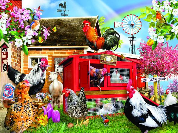 Chicken Coop 1000 pc Jigsaw Puzzle