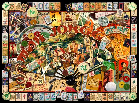 Mah Jongg Masters 1000 pc Jigsaw Puzzle - Mah Jongg Collage - by SunsOut