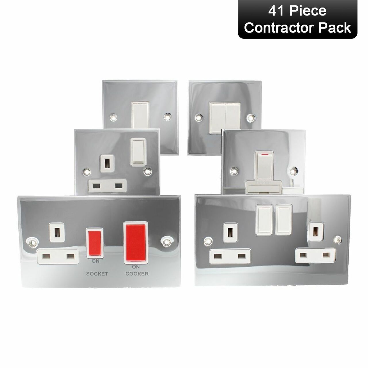 Fabulous Selectric Conpack1 Pc Polished Chrome White Wiring Accessory Wiring Digital Resources Jebrpkbiperorg