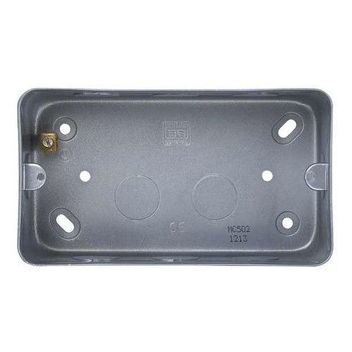BG Metal Clad MC502 2 Gang Surface Mounting Box