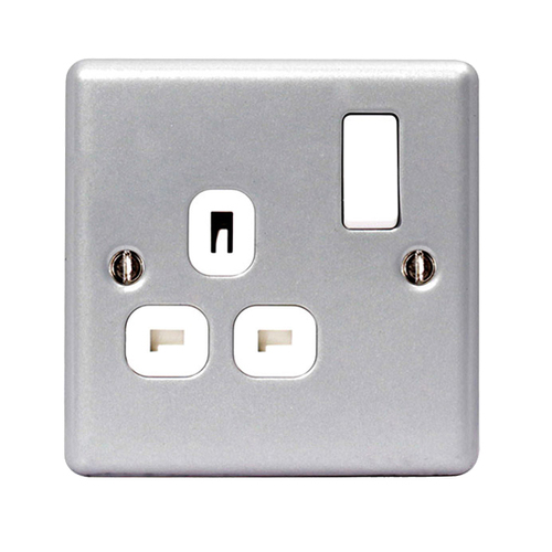 BG Metal Clad MC521 1 Gang 13 Amp Switched Socket