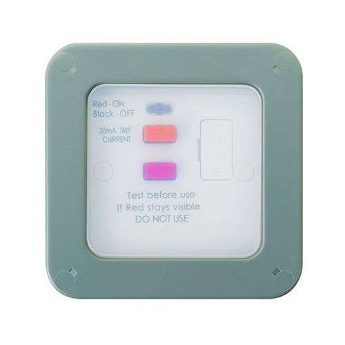 Outdoor Weatherproof 13 Amp RCD Fused Connection Unit IP66