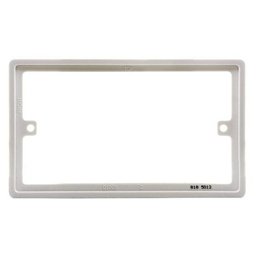 White Plastic Spacer Plate For Nexus 800 Series Double Plate 10mm