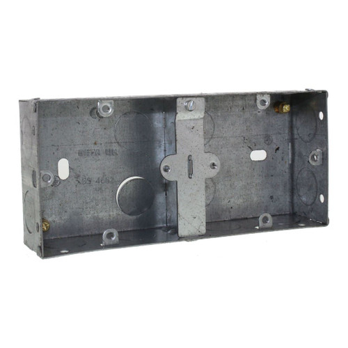 Dual Metal Box 35mm Deep - For Two 1 Gang Accessories