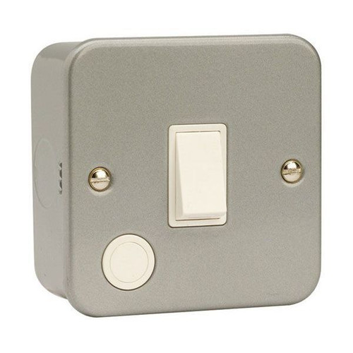 Metal Clad 20A Double Pole Switch with Optional Flex Outlet