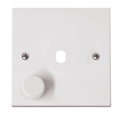 Polar White 1 Gang Dimmer Switch Plate with Knob