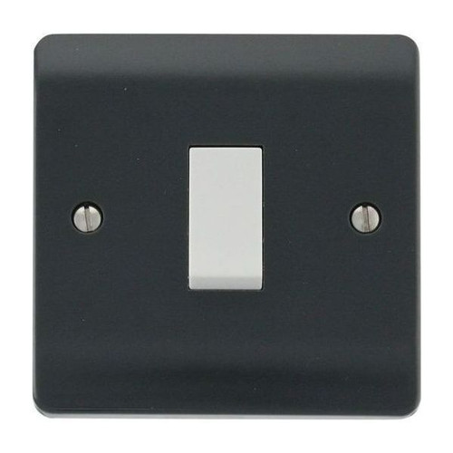 Part M Mode Modular Moulded Plastic 1 Gang 2 Way Plate Switch 10AX