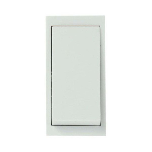 White 20A Double Pole Switch New Media Module