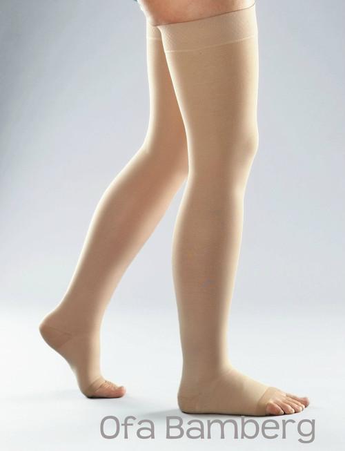 Lastofa Memory Aloe Vera Thigh High Stockings - with griptop