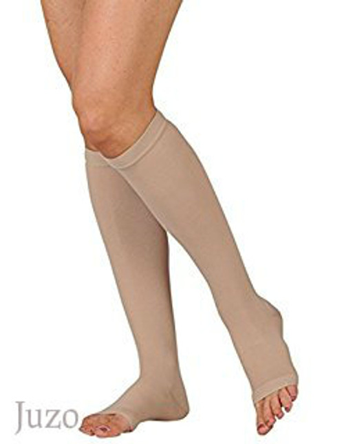 Juzo Dynamic Cotton Below Knee Stocking with silicone border
