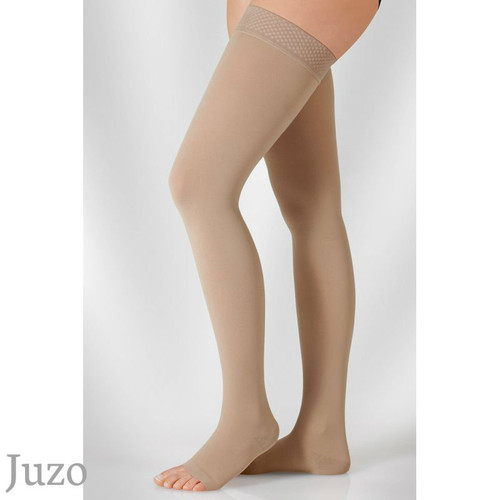 Juzo Cotton Dynamic Thigh stockings with silicone border