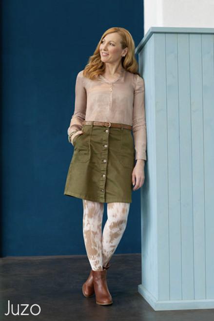 Juzo Soft - Below Knee Stockings with Thin Silicone Batik Style