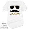 Personalized Mr. Cool Stache Baby Gown